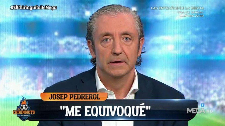 He hecho el panoli: insólitas disculpas de Josep Pedrerol, retratado en 'El chiringuito de Jugones'