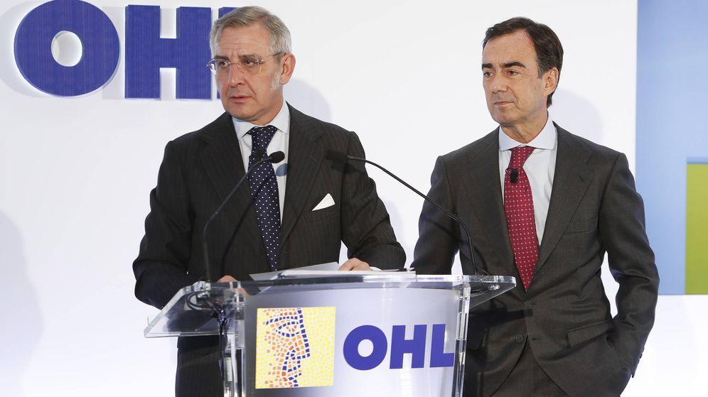 Foto: Tomás García Madrid, consejero delegado de OHL, y Juan Villar-Mir, presidente de OHL