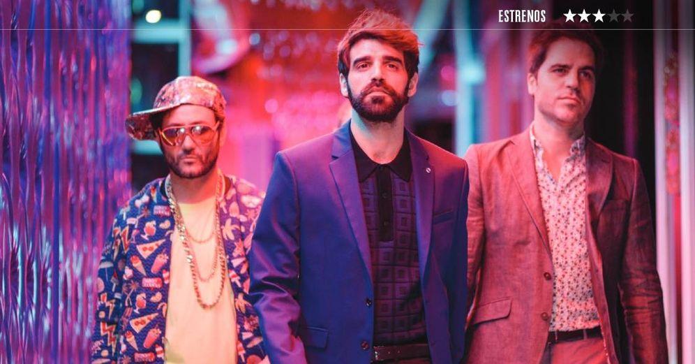 Foto: Carlos Santos, David Verdaguer y Ernesto Sevilla en 'Lo dejo cuando quiera'. (Sony)