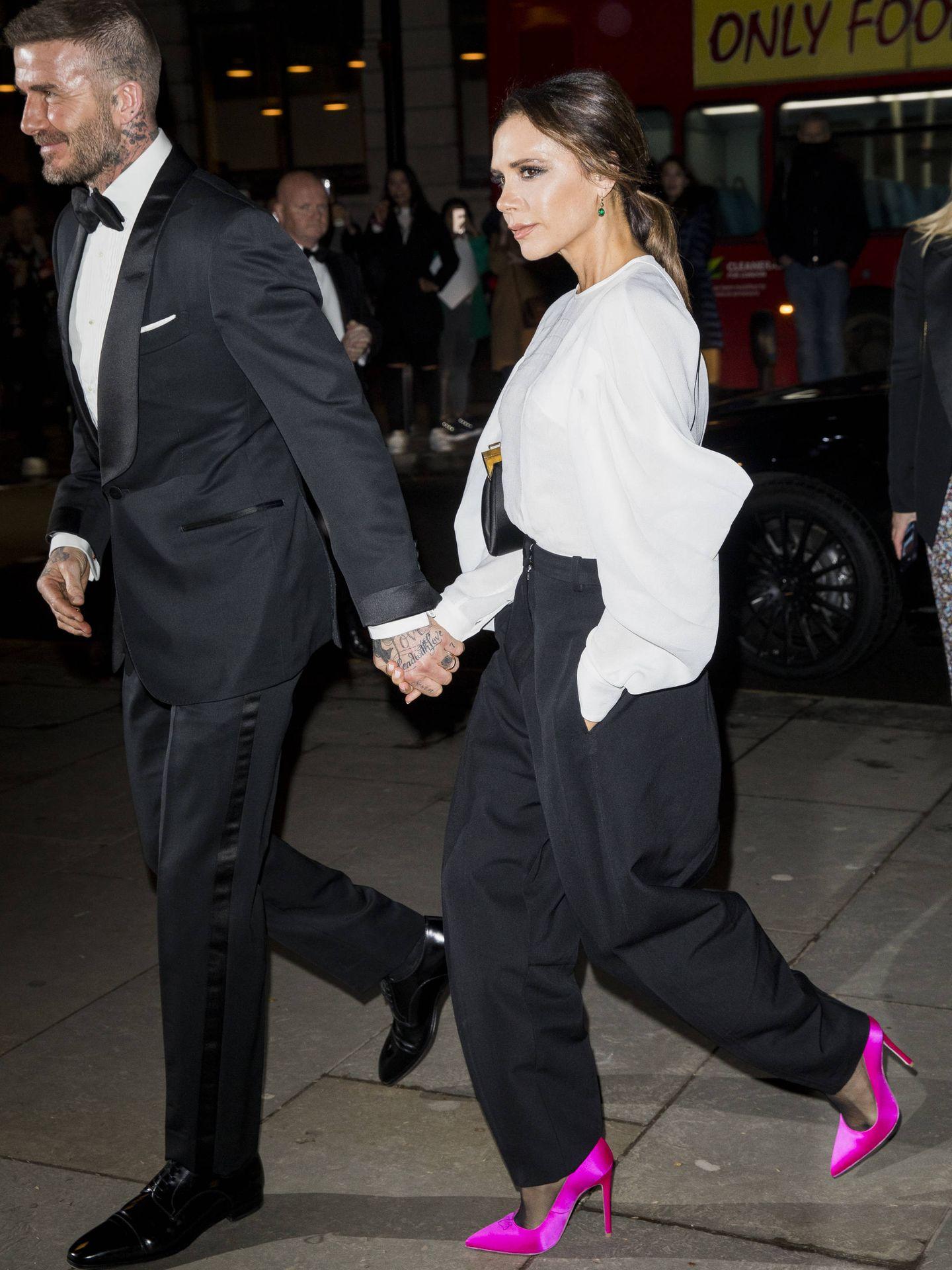 David y Victoria Beckham en la gala Portrait de la National Portrait Gallery. (Getty)