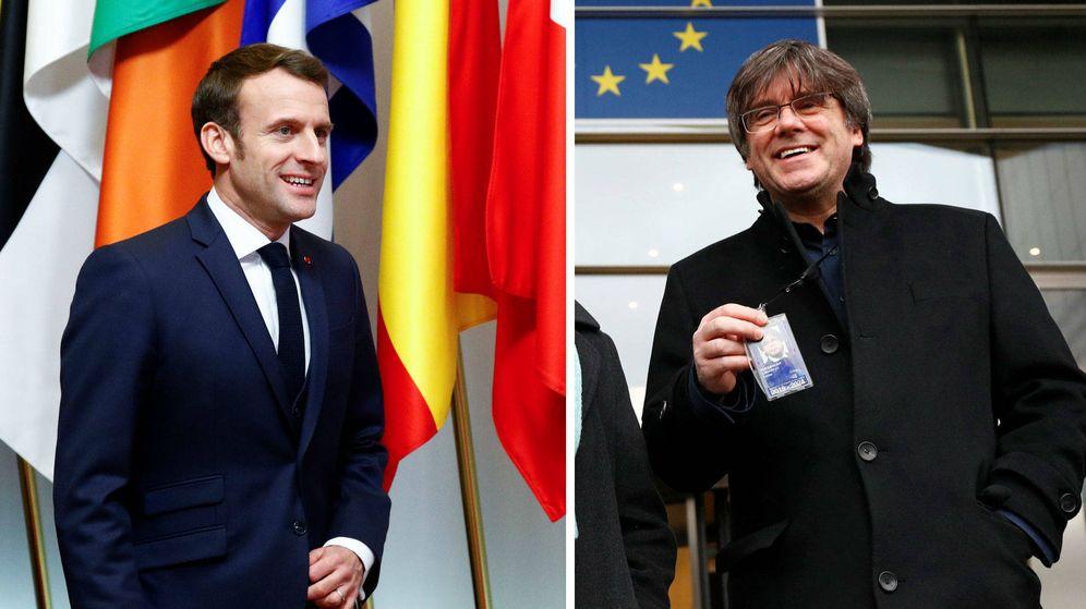 Foto: Emmanuel Macron y Carles Puigdemont. (Reuters/EFE)