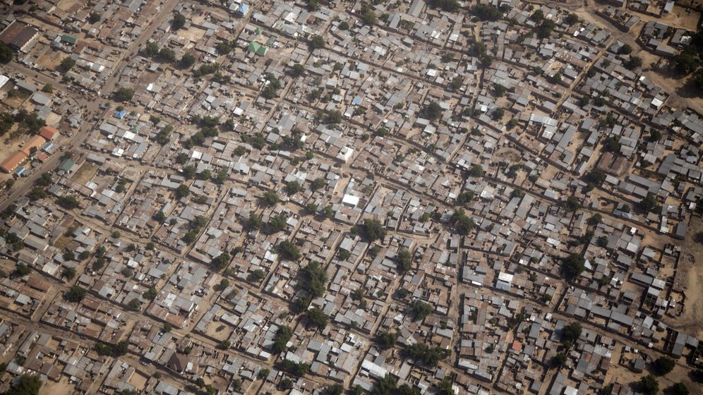 Foto: Vista aérea de la ciudad nigeriana de Maiduguri, donde