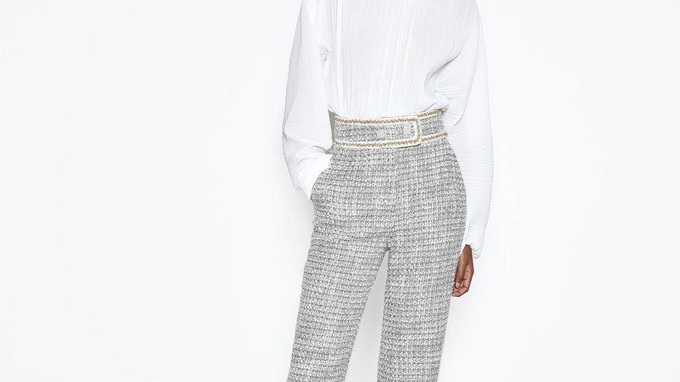 Con estos pantalones de tweed de Uterqüe puedes triunfar en la ofi o en una boda