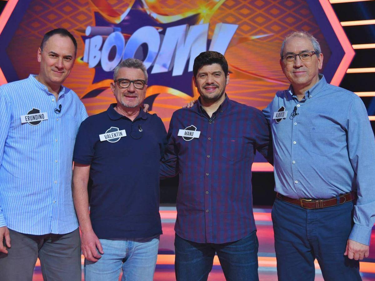 Foto: Erundino, Valentín, Manu y Alberto, Los Lobos de '¡Boom!'. (Atresmedia Televisión)