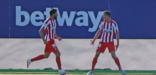 Post de Marcos Llorente, tocado por una varita, pone al Atético de Madrid en el objetivo (0-1)