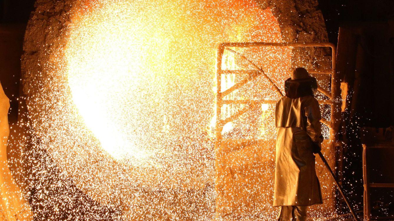 Foto: Fábrica siderúrgica en Salzgitter, Alemania. (EFE)