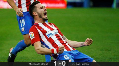 Un ataque de rabia de Saúl devuelve algo de vida al Atlético ante Las Palmas