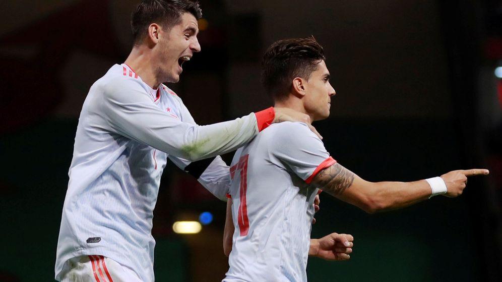 Foto: Morata y Bartra celebran un gol. (Reuters)