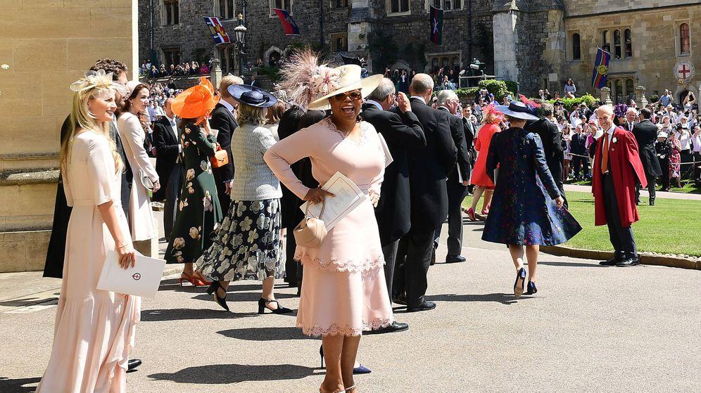 Foto: Oprah Winfrey en la boda de los duques de Sussex. (Getty)