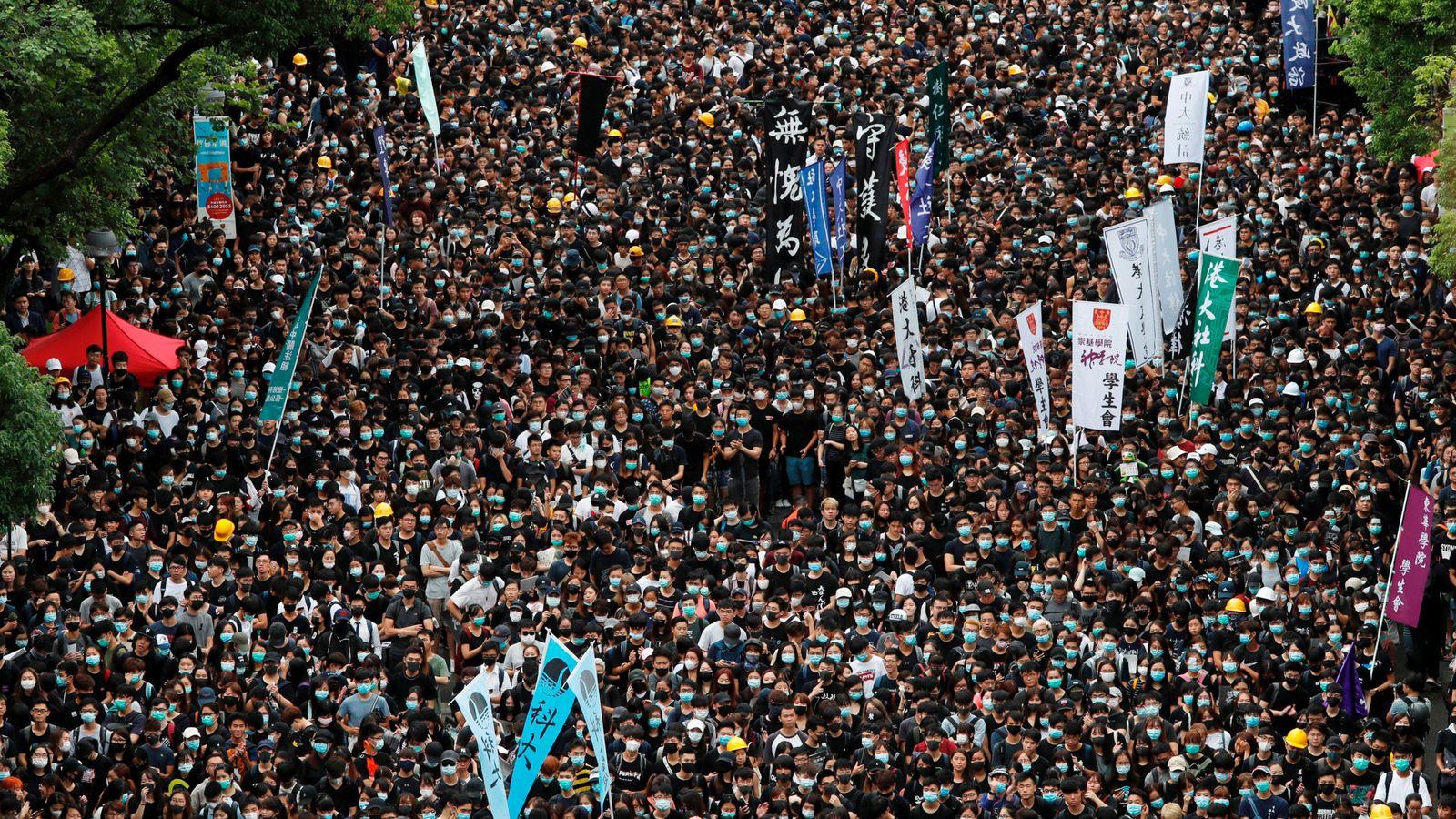 Foto: Protestas en Hong Kong (Reuters)