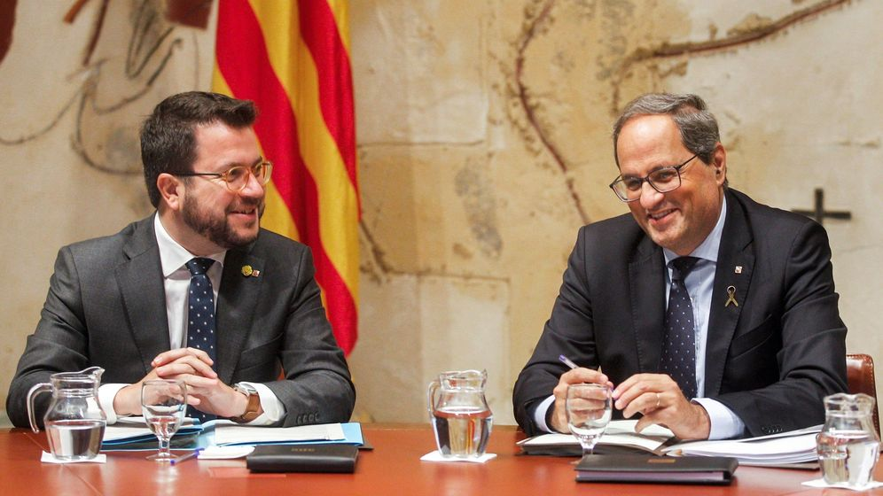 Foto: El presidente de la Generalitat, Quim Torra, a la derecha. (EFE)