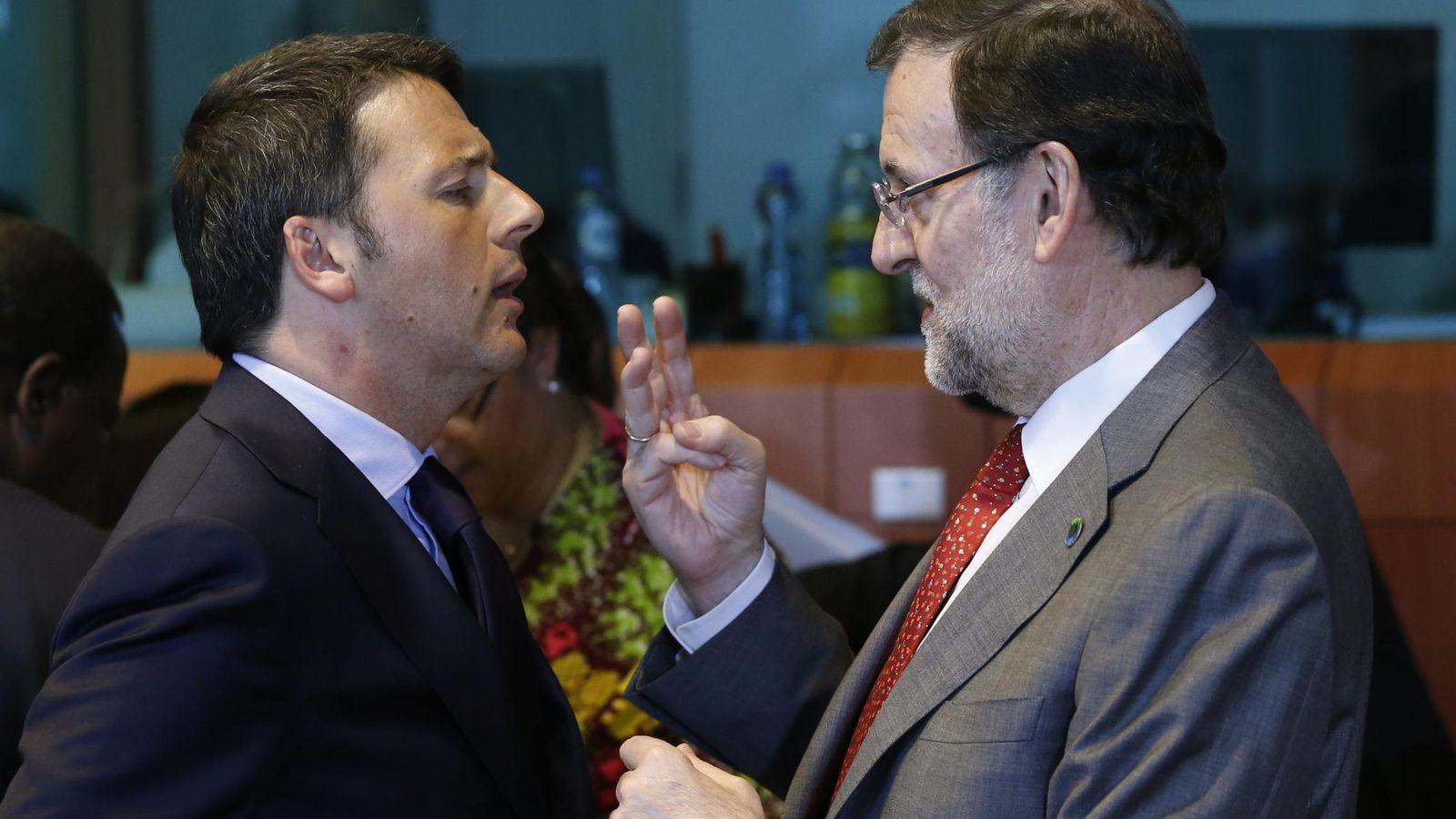 Foto: El primero ministro italiano, Matteo Renzi, y el presidente de España, Mariano Rajoy. (Reuters)