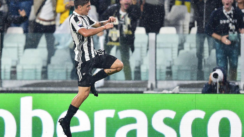 Paulo Dybala celebra un gol marcado con la Juventus. (EFE)