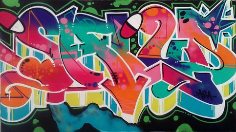 Lo último en deco: pon un mural de arte urbano en tu salón