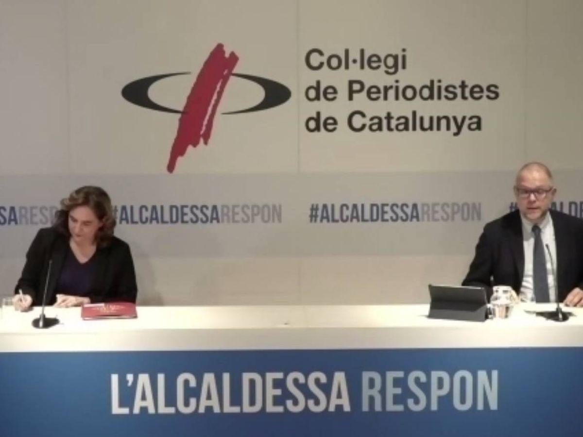 Foto: La regidora de Barcelona, Ada Colau, participa en el encuentro telemàtico 'L'alcaldessa respòn'. (EFE)