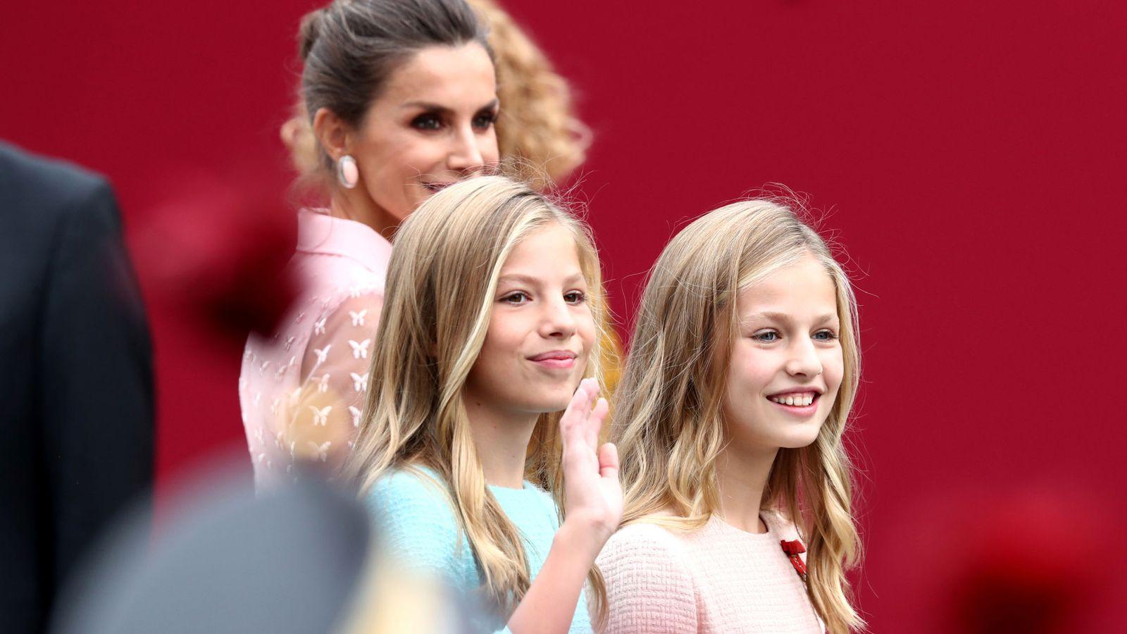 Foto: Letizia, Leonor y Sofía. (Reuters)