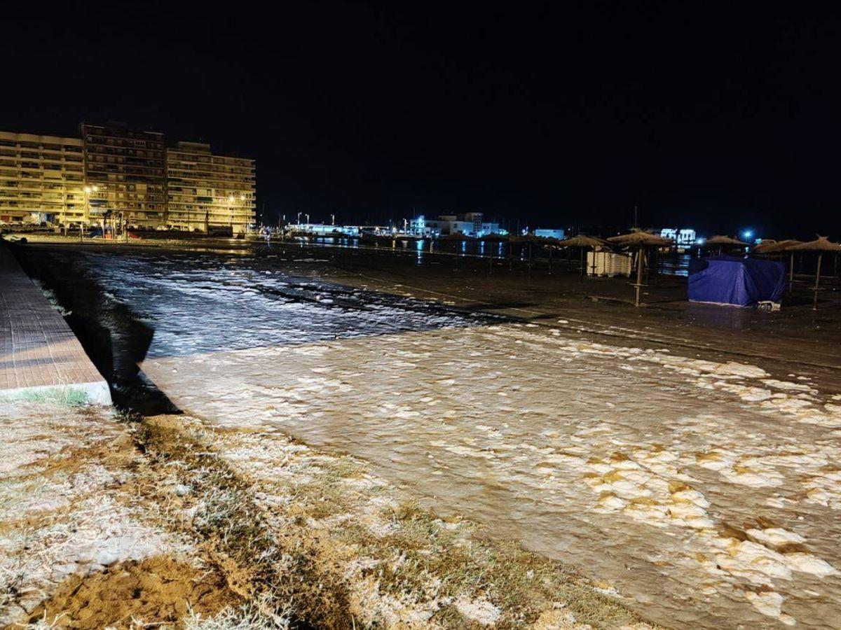 Foto: Una 'risagga' en la zona de Santa Pola, Alicante. (Policía Local de Santa Pola)