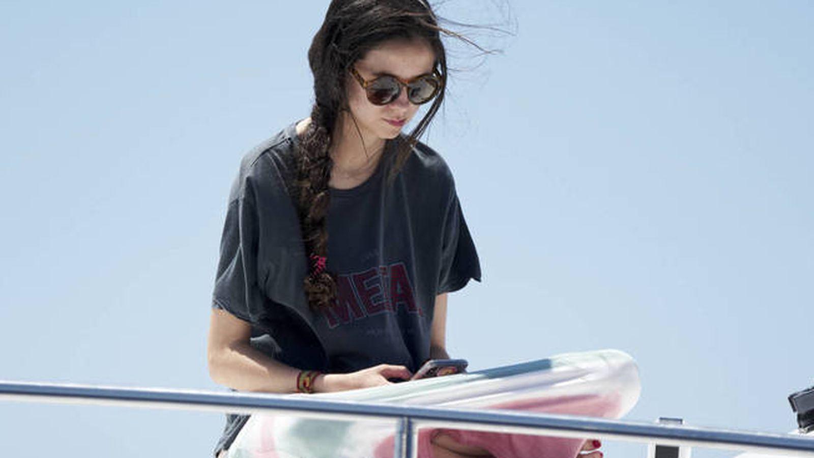 Foto: Victoria Federica, durante sus vacaciones en Mallorca este verano. (Getty)