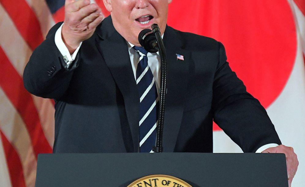 Foto: Donald J. Trump, durante la rueda de prensa en Japón. (EFE)