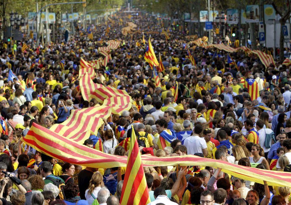 Foto: Cadena humana por la independencia (EFE)