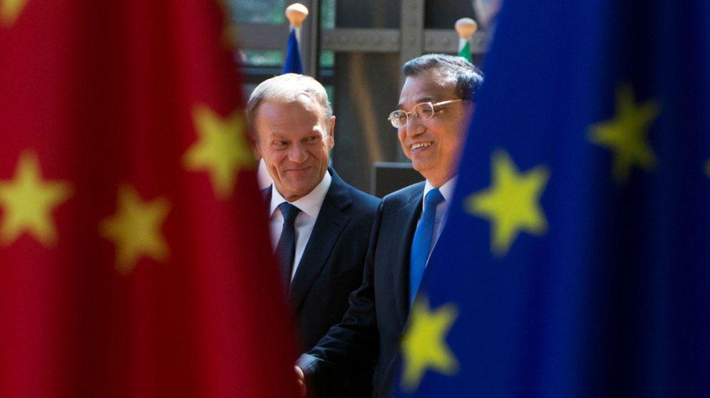 Foto: Donald Tusk recibe al primer ministro chino. (Reuters)