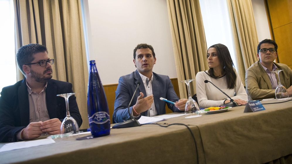 Foto: Albert Rivera, en rueda de prensa en la Convención de Ciudadanos. (Efe)
