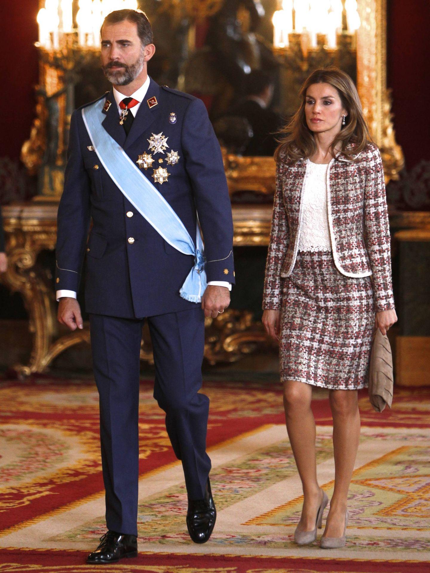 Doña Letizia, en el Día de la Hispanidad de 2012. (Getty)