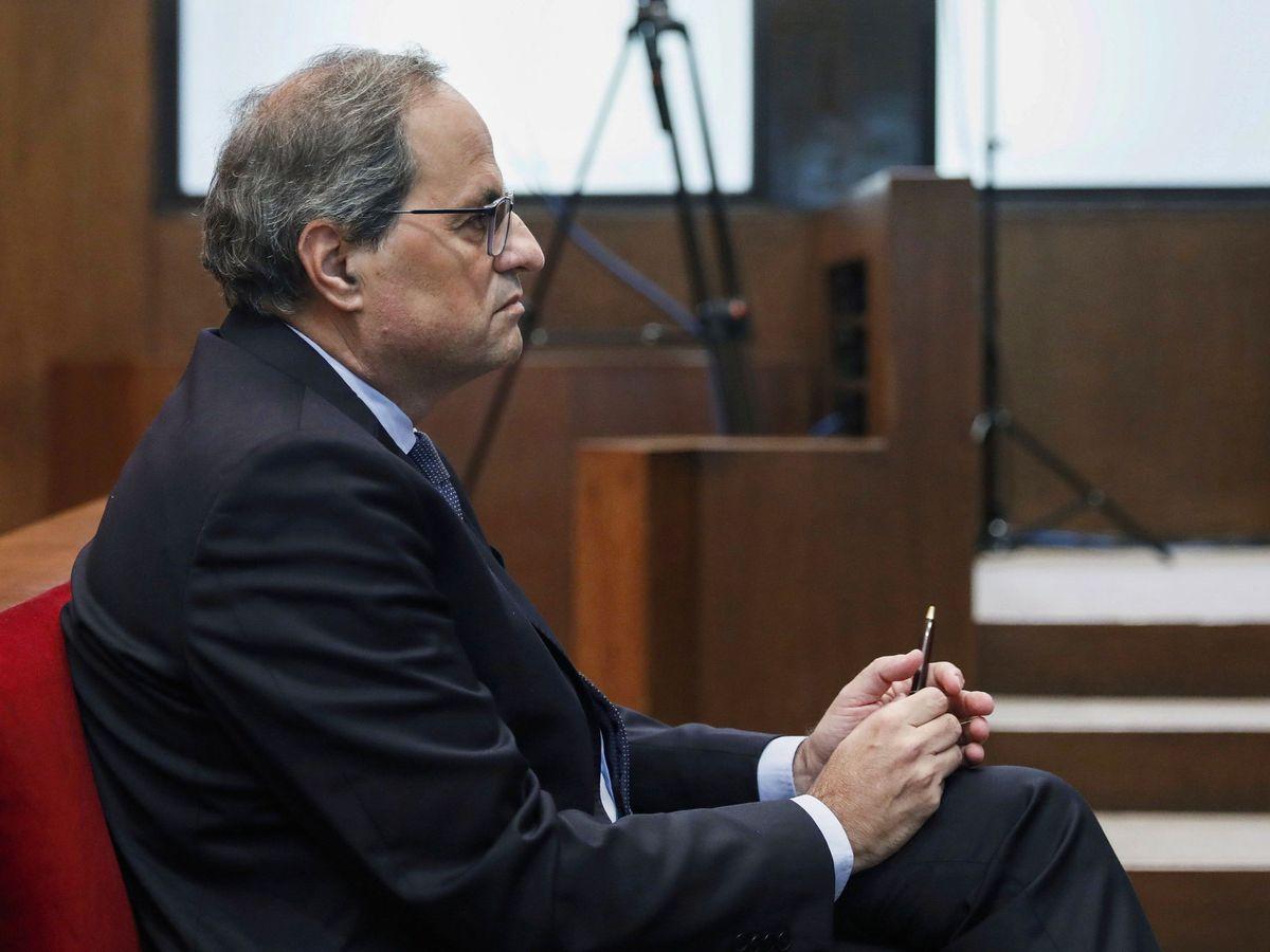 Foto: El presidente de la Generalitat, Quim Torra, en el Tribunal Superior de Justicia de Cataluña. (Reuters)
