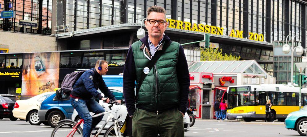 Foto: Carsten Voss, cabeza de la asociación Querstadtein, que organiza tours en Berlín para mostrar la vida de los sintecho en la capital alemana (J.P. de la Cruz)