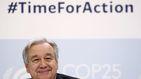 Guterres pide parar la guerra contra el planeta en su presentación de la Cumbre