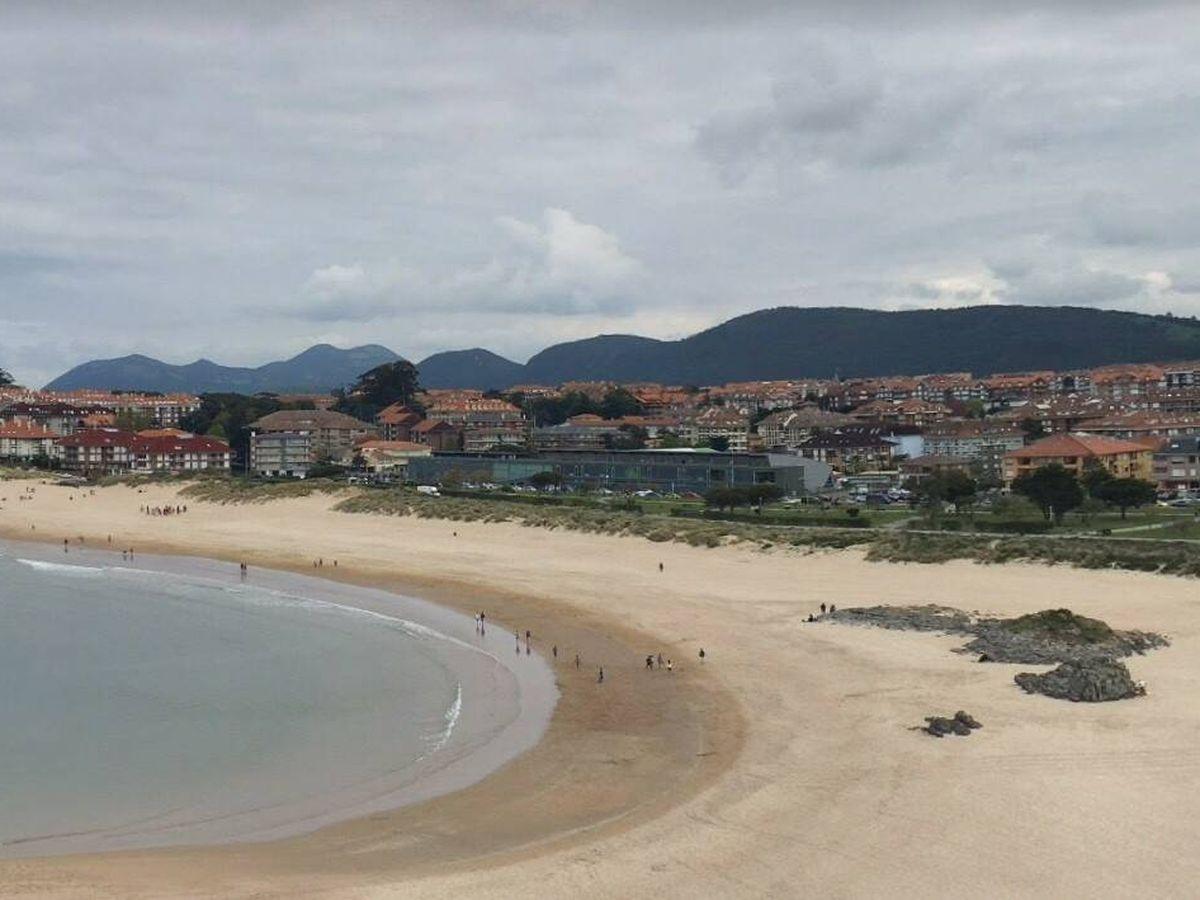 Foto: Playa de Ris, en Noja (Cantabria). Foto: Google Maps