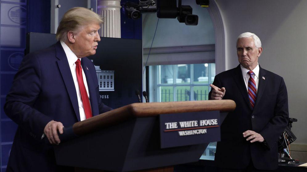 Foto: Mike Pence y Donald J. Trump en su última comparecencia (EFE)