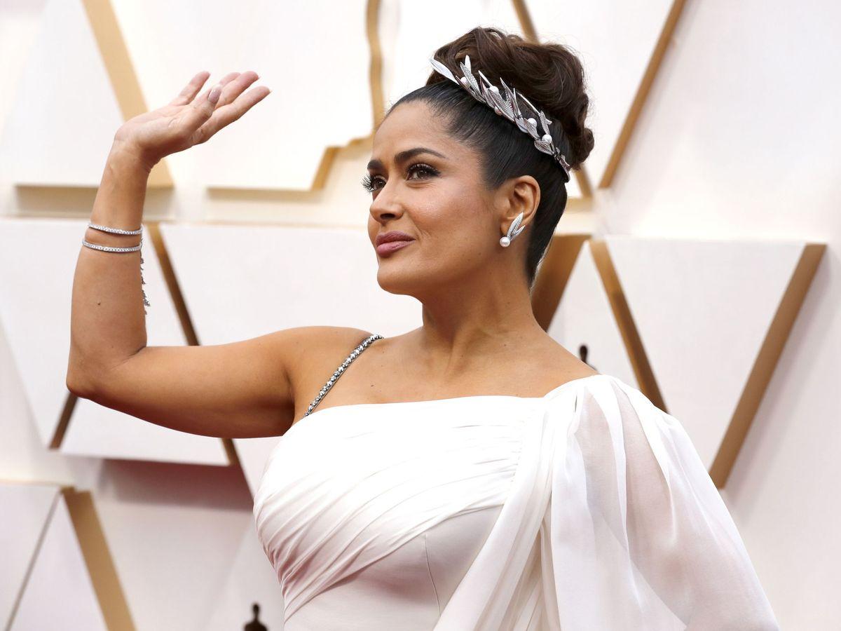 Foto: Salma Hayek, a su llegada a los Premios Oscar. (EFE)