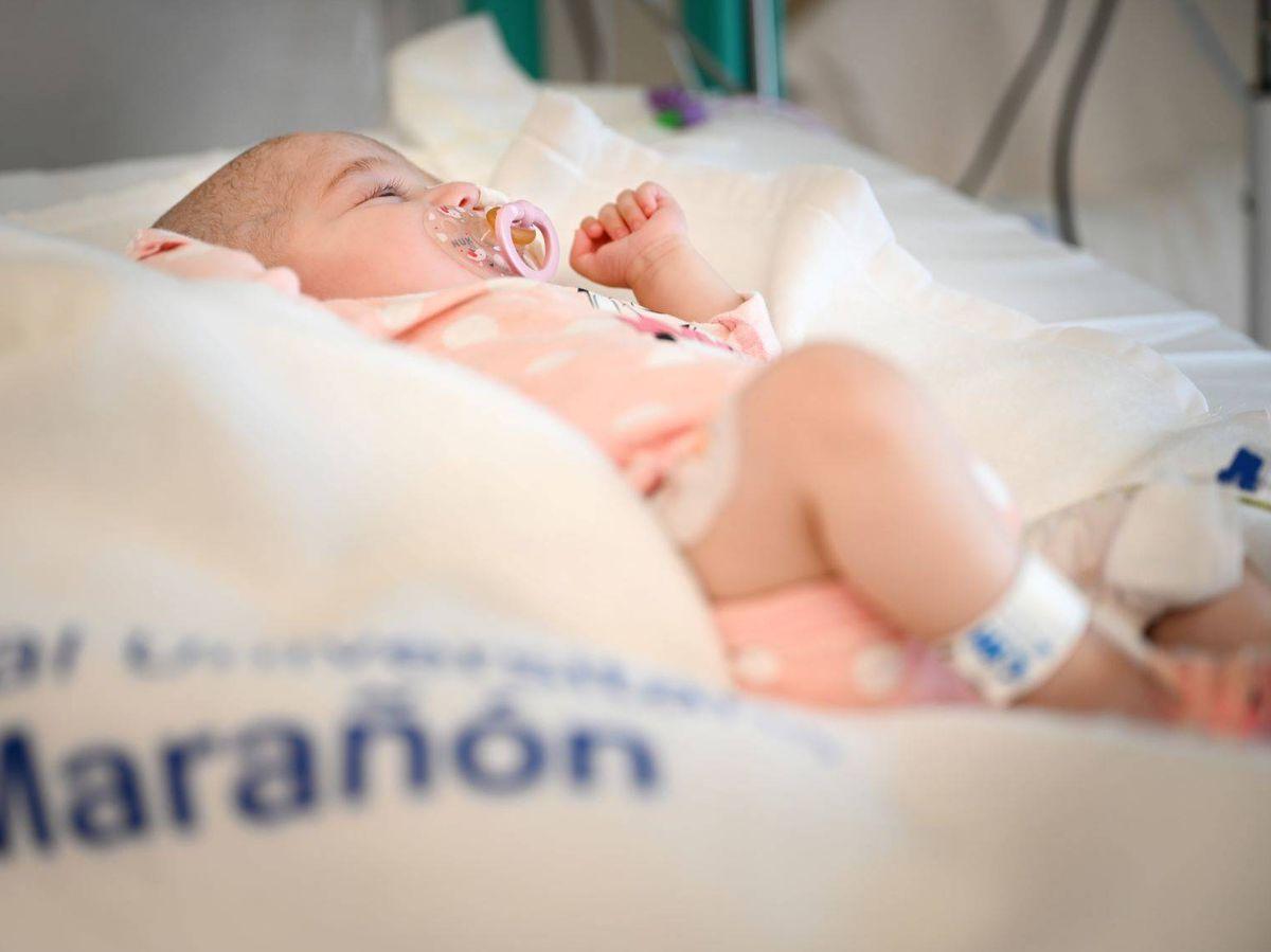 Foto: Imagen del bebé trasplantado