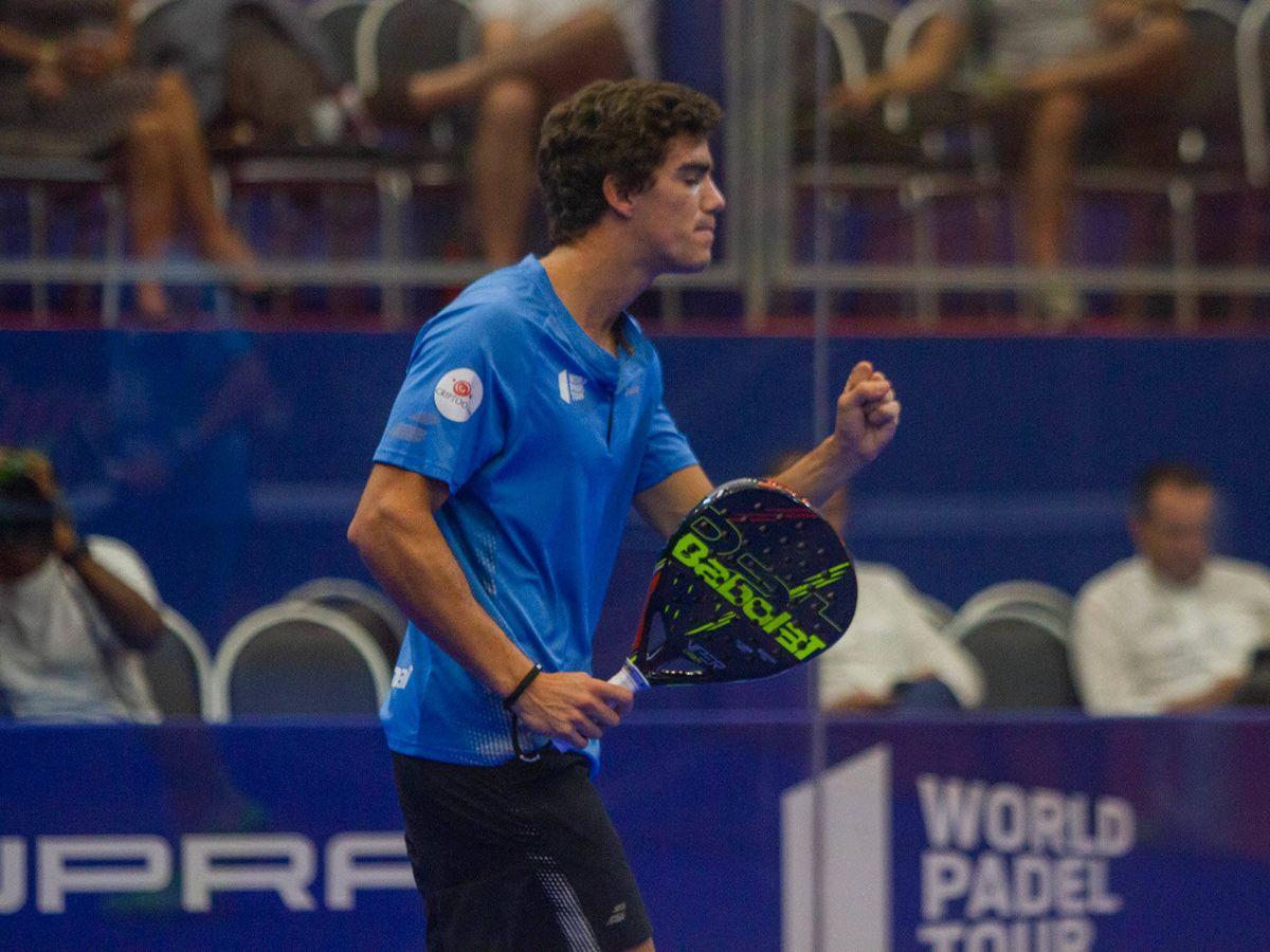 Foto: Juan Lebrón, durante los cuartos de final del Sao Paulo Open. (Foto: World Padel Tour)