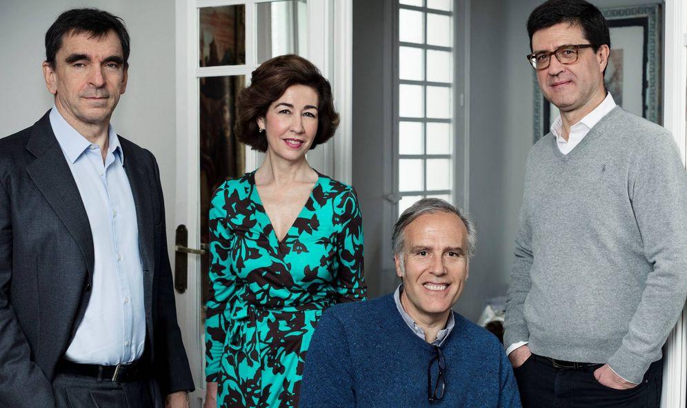 Foto: De izquierda a derecha: Walter Scherk, Beatriz Paredes, Jean Claude Felguera y Juan Perea.