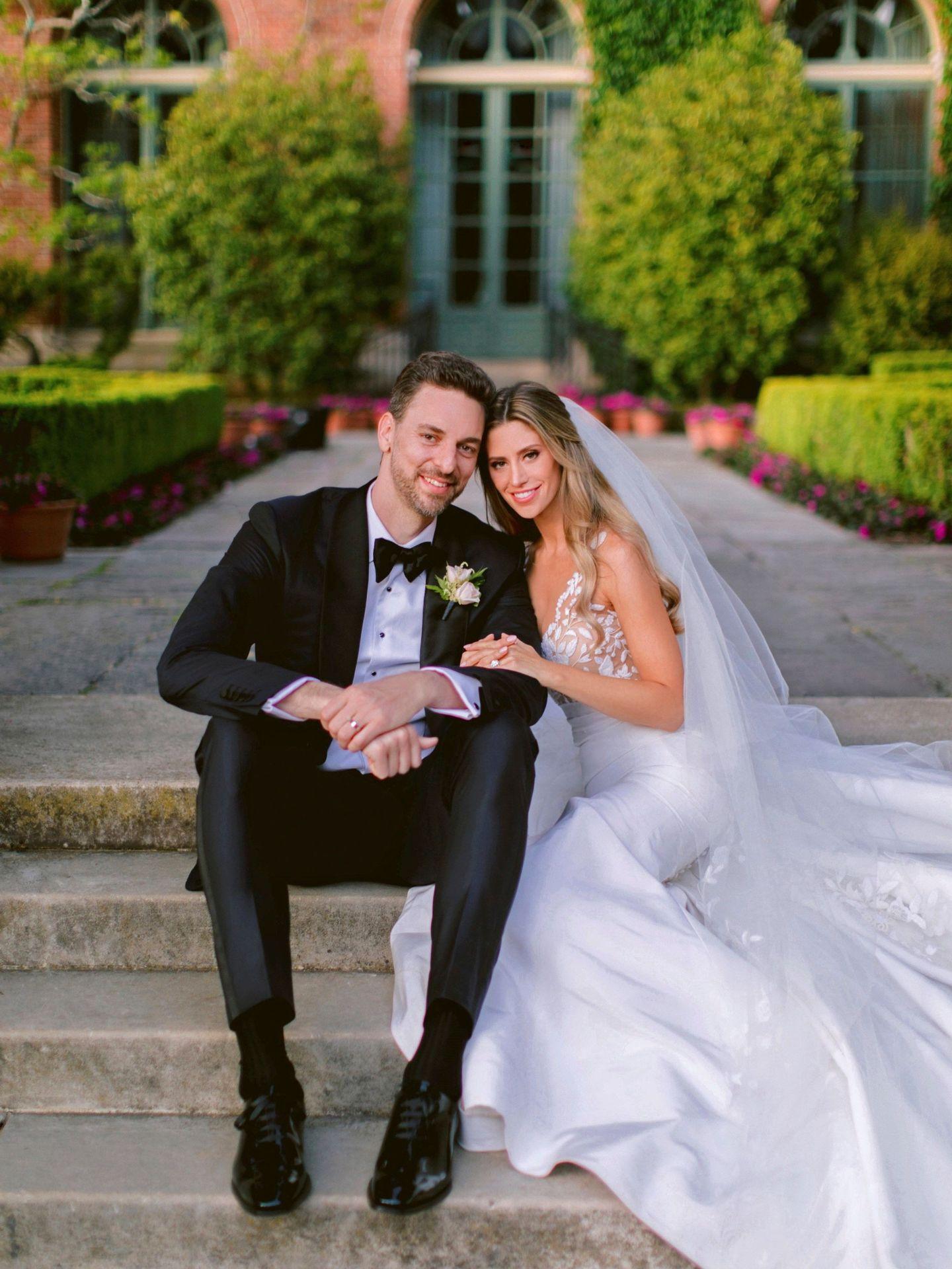 Pau Gasol, el día de su boda con Catherine McDonnell. (EFE)