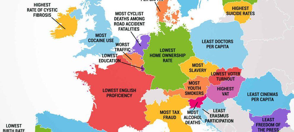 Foto: Lo peor de cada país europeo, según un listado de Thrillist