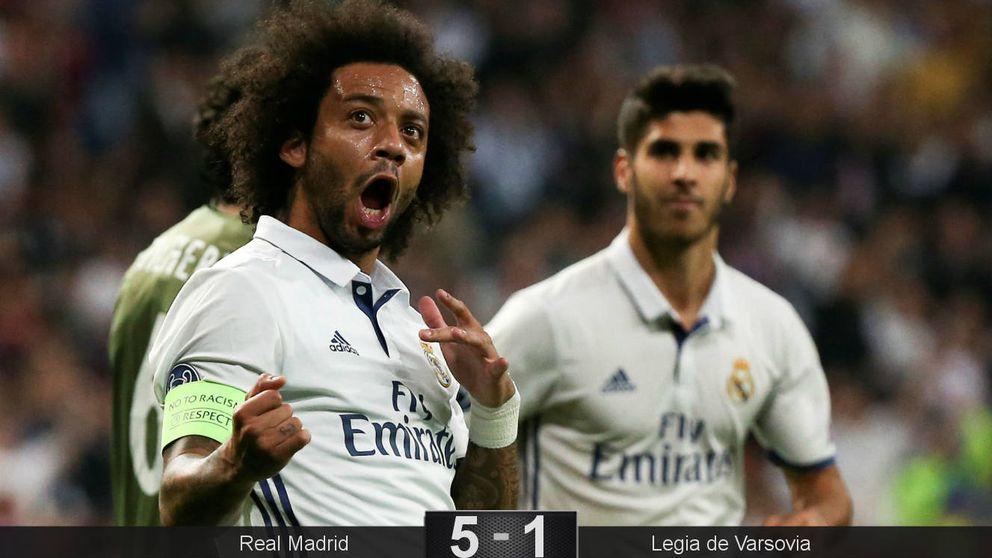 El Madrid también golea sin centro del campo y con Cristiano de asistente