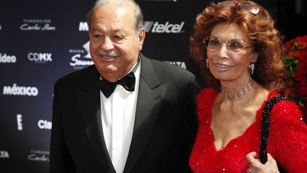 Carlos Slim, el perfecto anfitrión en el cumpleaños de Sophia Loren