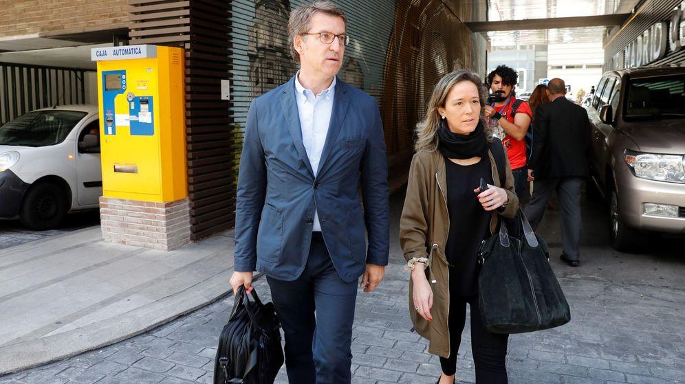 Foto: Alberto Núñez Feijóo llega a la Junta Directiva Nacional del PP. (EFE)