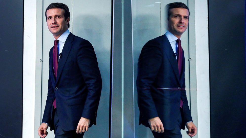 Foto: Pablo Casado, a su llegada a la rueda de prensa posterior a la reunión del comité ejecutivo nacional. (EFE)