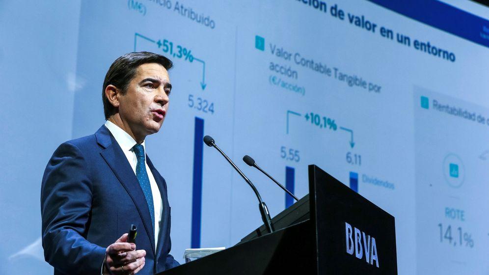 Foto: El presidente de la entidad, Carlos Torres, durante la presentación de resultados de la entidad. (EFE)