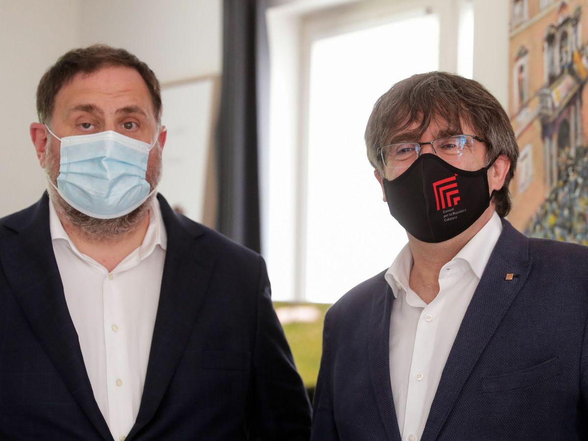 Foto: Oriol Junqueras y Carles Puigdemont en una imagen de archivo de julio. (EFE)