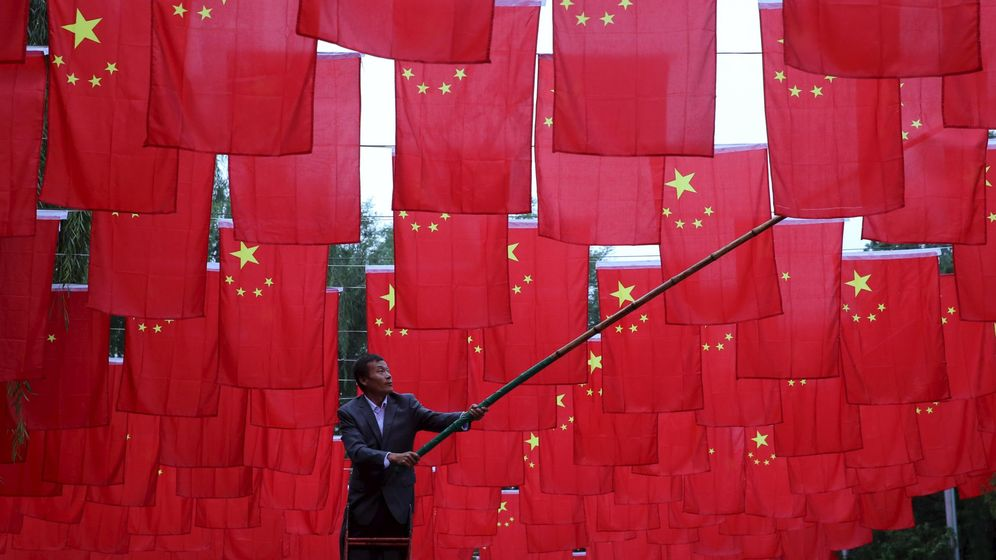 Foto: Banderas de China (Reuters)
