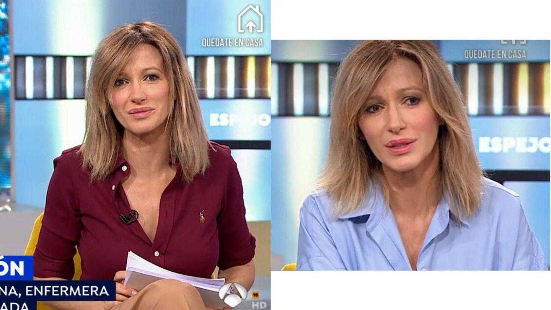 También hay días malos para el maquillaje de Susanna Griso. (Atresmedia)