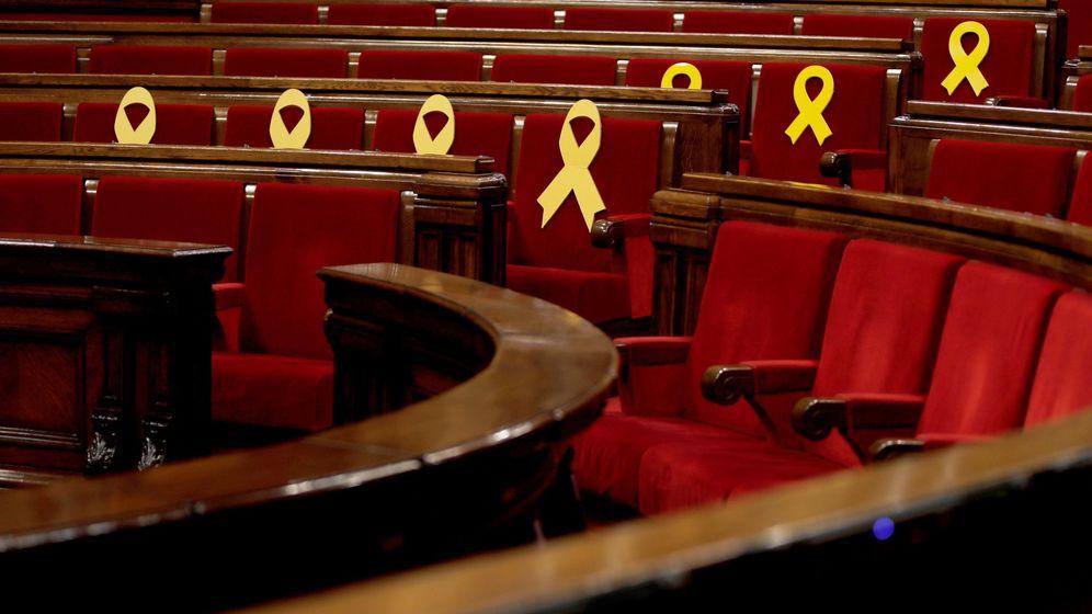 Foto: Vista general del hemiciclo del Parlament de Cataluña. (EFE)
