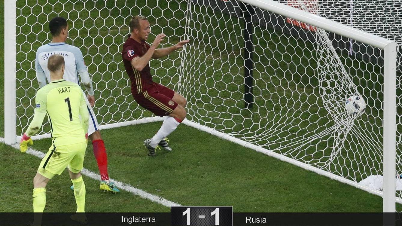 Foto: El gol de Rusia (Reuters)