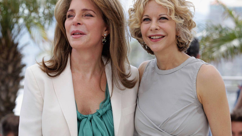 Con Meg Ryan, en el Festival de Cannes. (Getty)