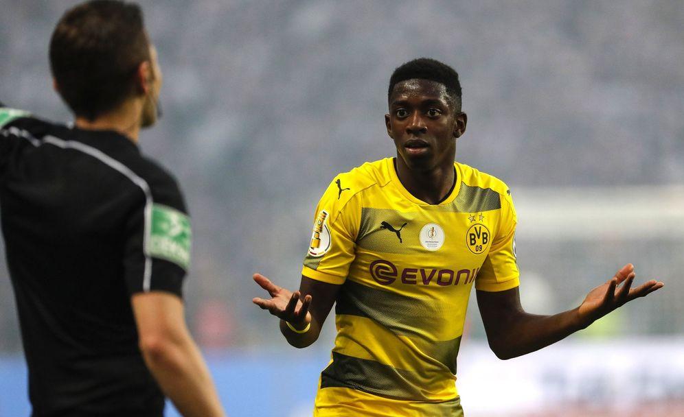 Foto: Ousmane Dembélé durante un partido del Borussia Dortmund. (Reuters)
